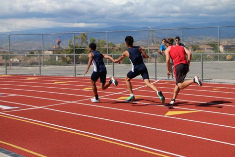 Track Sprints to First Place against Hart