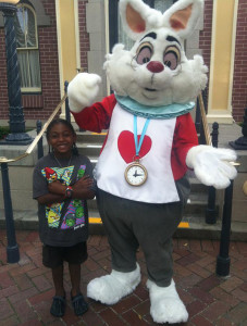 White Rabbit of Disneyland refuses to hug black child