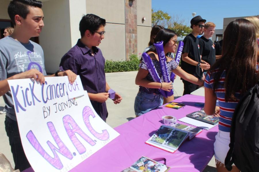 Members of the Wildcats Against Cancer greeted new members enthusiastically.