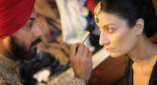 A majority of make-up artists in India are actually male.