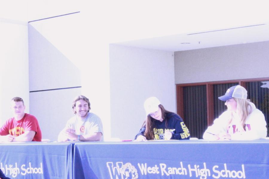 (from left) Nathan Bultman, Jagger Rusconi, Charlotte Romero, Lexi Sorenson