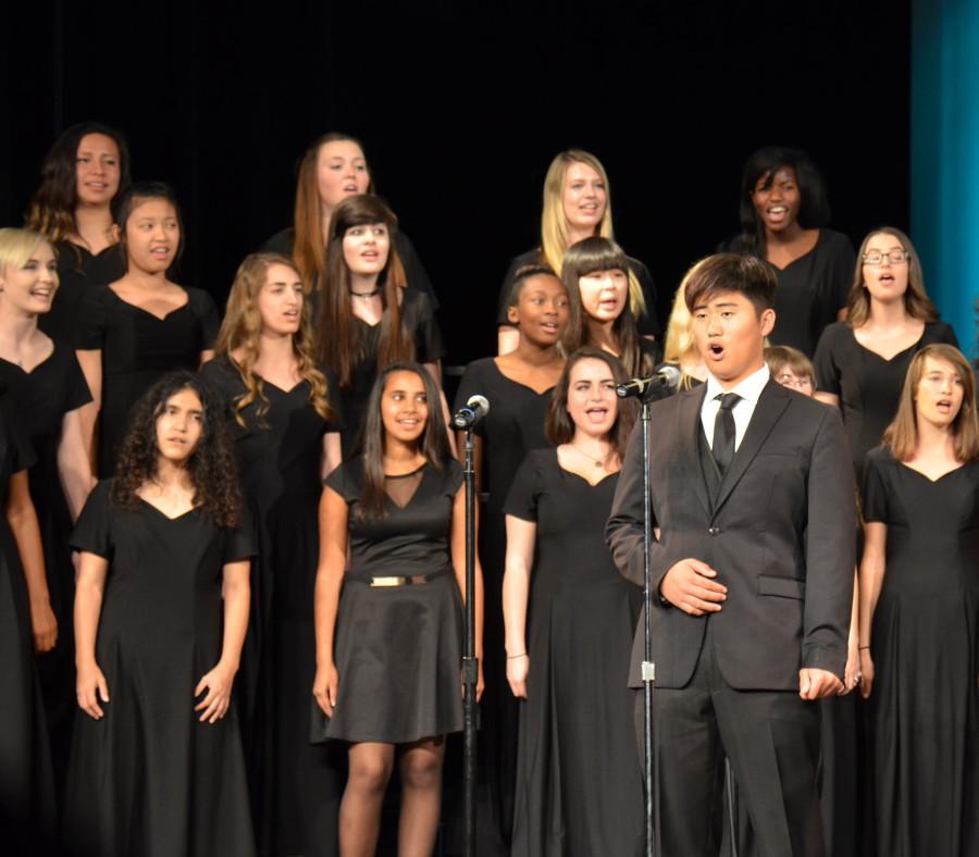 Choir students defy gravity