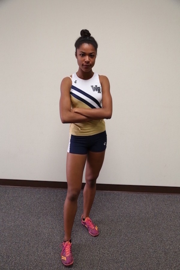 Freshman Shelbi Schauble has emerged as one of West Ranch's future track stars.