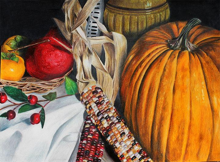 Chiaki Mas still life that won first place with the Congressional Art Award.