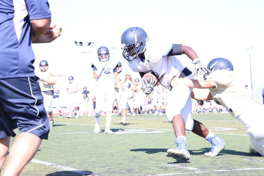 Football Founds a New Tradition with Blue and Gold Scrimmages