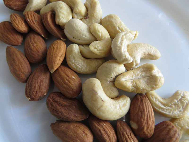 Nuts have decent amounts of good fats, as well as protein, vitamins, minerals, and fiber.