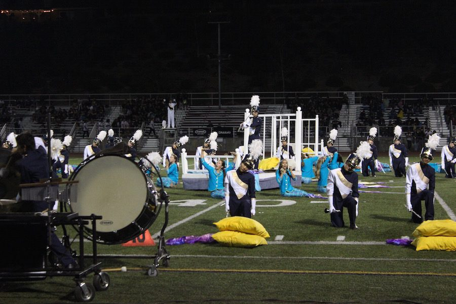 Marching band puts out a