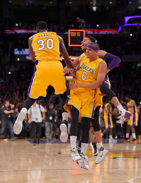 Surprisingly, the Baby Lakers have been one of the most exciting teams to watch this season. Provided by Boston Herald.