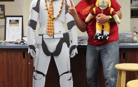 USC Graduate Casey Burrill isn't afraid to show his school spirit, and hopes USC will go far in this year's Big Dance.