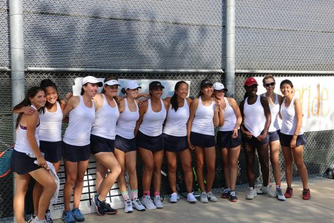 Girls Varsity Tennis Sends off Seniors with a Foothill League Title