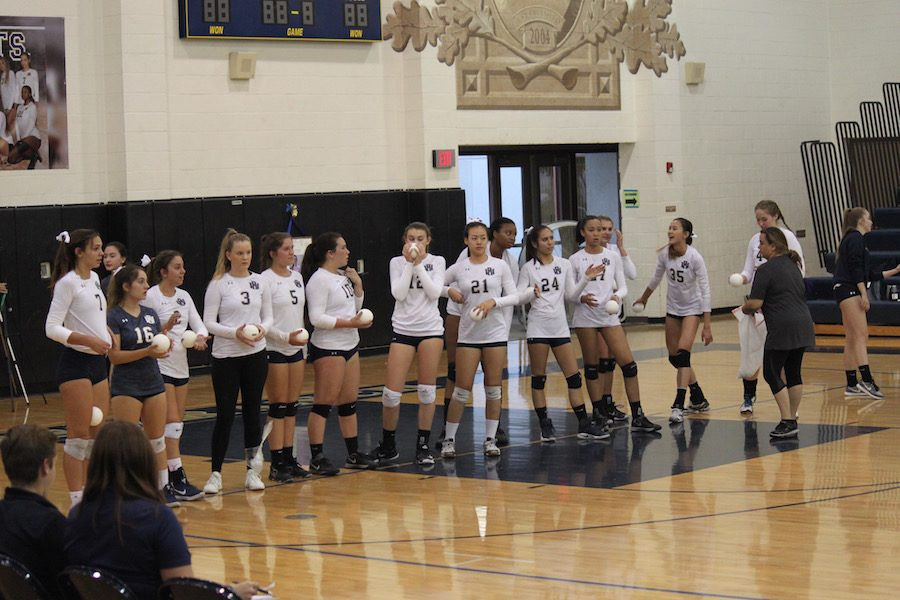 West Ranch Volleyball Falls to Valencia on Senior Night