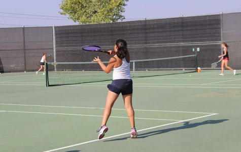 Girls JV Tennis Defeats Hart