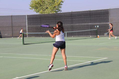 Girls JV Tennis Defeats Hart
