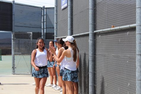 Girls Tennis Wins at Clovis