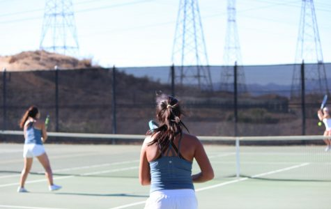 West Ranch Varsity Girls Tennis Dominates against Hart