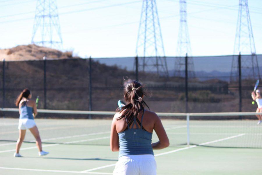 West Ranch Varsity Girls Tennis Dominates against Hart