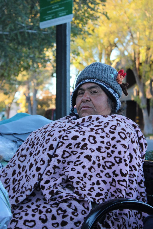 Margarita+sits+alongside+Jerry+and+Ginger+in+Veterans+Park+