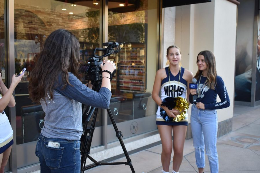 WRTV+interviews+Cheer+Captain+Gracie+Flynn+before+the+event.+