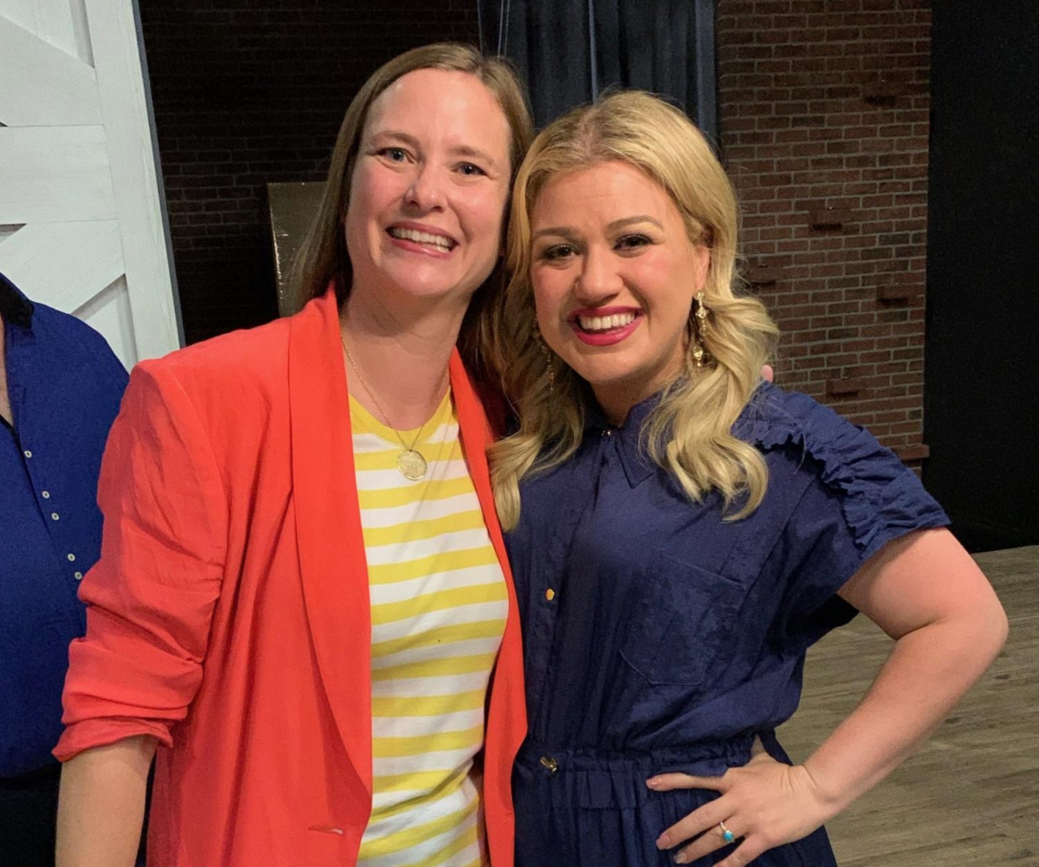 Mrs. Peters with Kelly Clarkson
