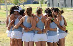 Varsity Girls Tennis Beats Valencia after a Heartfelt Senior Night