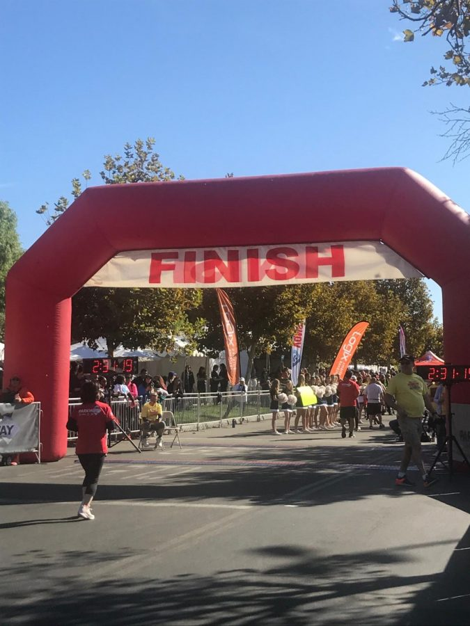 Runners Cross the Finish Line at the Santa Clarita Marathon
