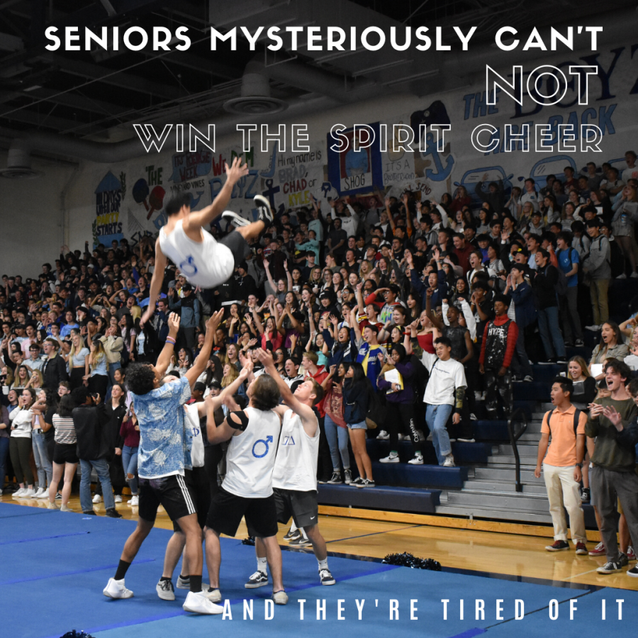 Seniors Mysteriously Cant Not Win the Spirit Cheer at Rallies