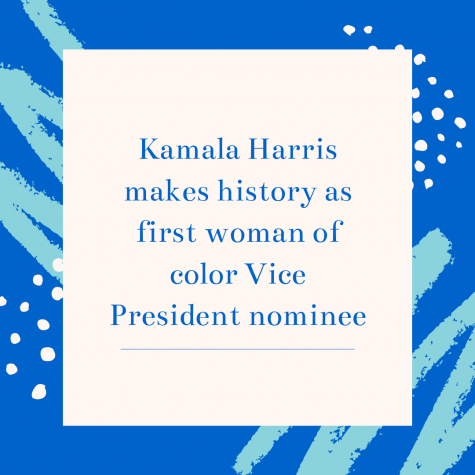 Kamala Harris makes history as first woman of color Vice President nominee