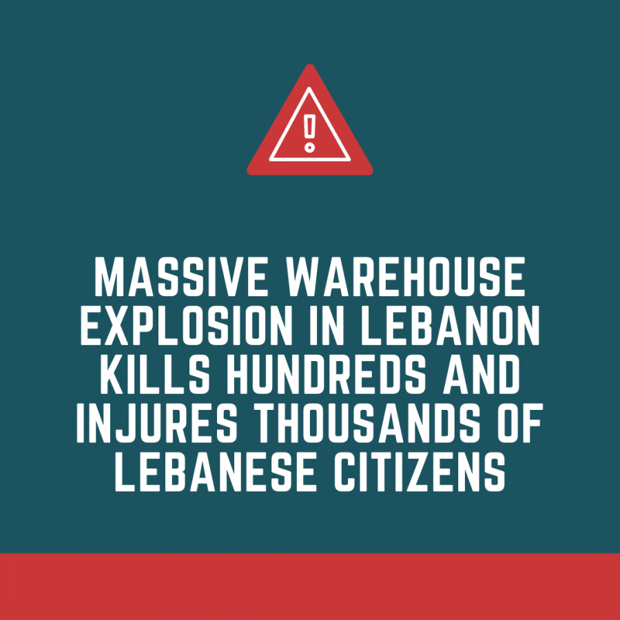Massive warehouse explosion in Lebanon kills hundreds and injures thousands of Lebanese citizens