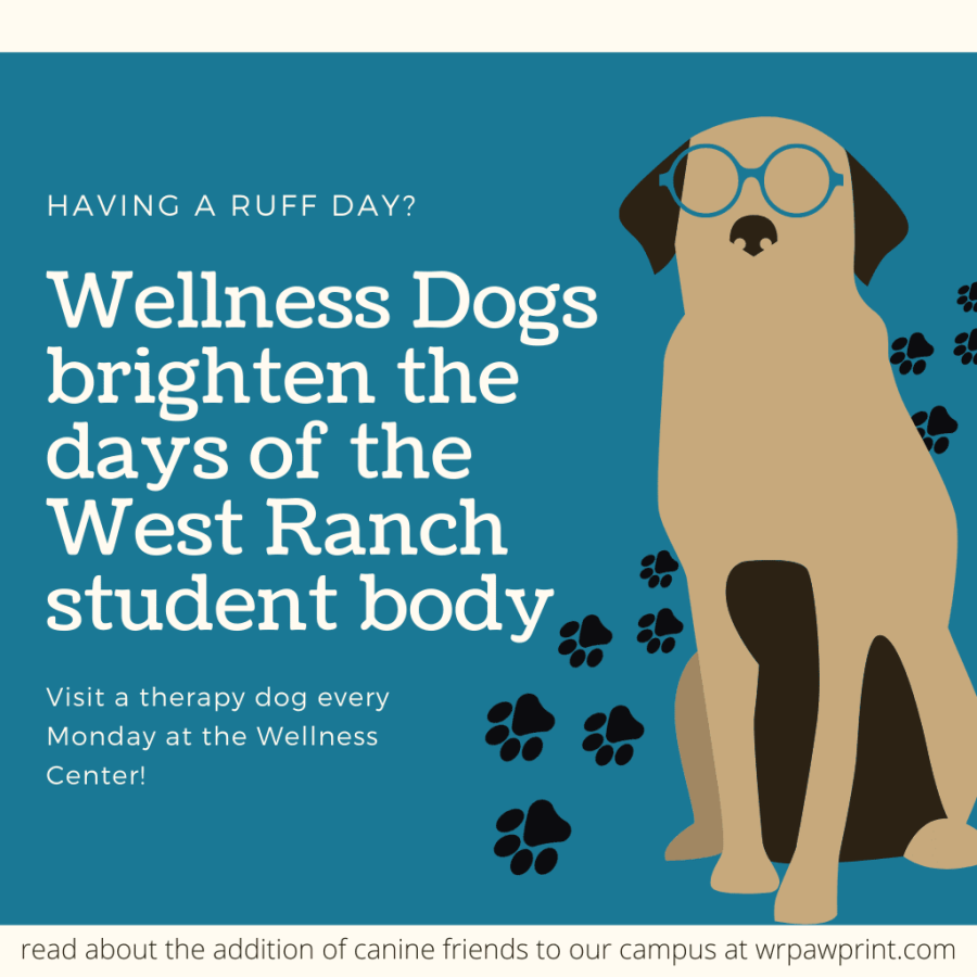 Wellness Dogs brighten the days of the West Ranch student body